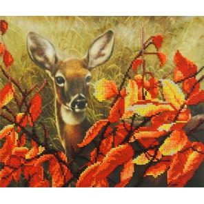 Оленёнок в листьях Набор для вышивания бисером МП Студия