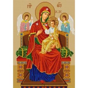Богородица Всецарица Канва с рисунком для вышивки бисером Конек