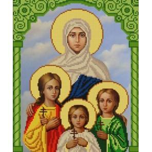 Святые Вера, Надежда, Любовь и София Канва с рисунком для вышивки бисером Конек