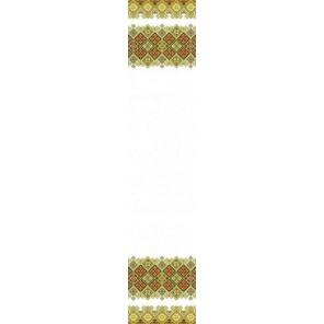 Пример оформления в рамке Рушник свадебный 1 Канва с рисунком для вышивки бисером Конек 9401
