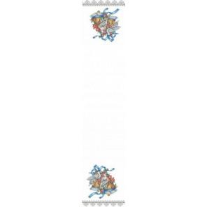 Пример оформления в рамке Рушник свадебный 3 Канва с рисунком для вышивки бисером Конек 9403