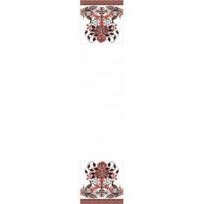 Пример оформления в рамке Рушник свадебный 4 Канва с рисунком для вышивки бисером Конек 9404