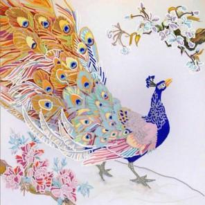 Полиптих. Павлины 3 Канва с рисунком для вышивки бисером Конек