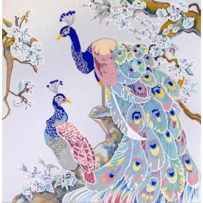 Полиптих. Павлины 4 Канва с рисунком для вышивки бисером Конек
