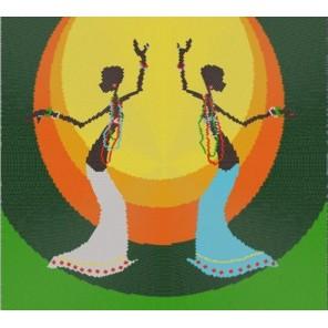 Танец Канва с рисунком для вышивки бисером Конек