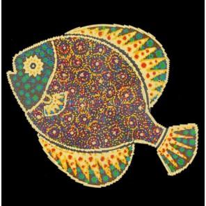 Пример оформления в рамке Рыбка Канва с рисунком для вышивки бисером Конек 9517