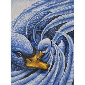 Лебеди Канва с рисунком для вышивки бисером Конек