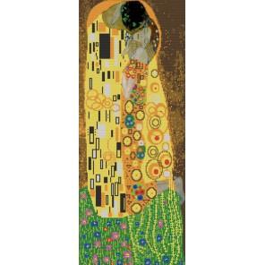 Поцелуй Г.Климт Канва с рисунком для вышивки бисером Конек