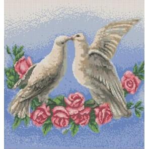 Голуби Канва с рисунком для вышивки бисером Конек