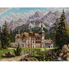 Замок Канва с рисунком для вышивки бисером Конек