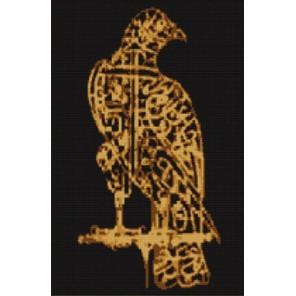 Орел. Каллиграфия Канва с рисунком для вышивки бисером Конек