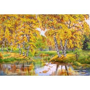 Осенний день Канва с рисунком для вышивки бисером Конек