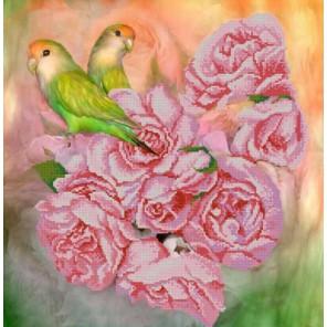 Попугайчики Канва с рисунком для вышивки бисером Конек