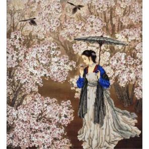 В саду Канва с рисунком для вышивки бисером Конек