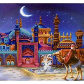Восточная ночь Канва с рисунком для вышивки бисером Конек