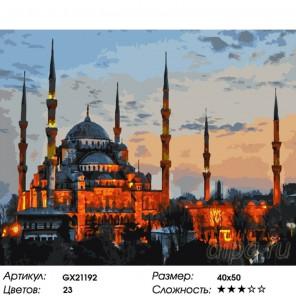 Количество цветов и сложность Мечеть в Стамбуле Раскраска картина по номерам на холсте GX21192