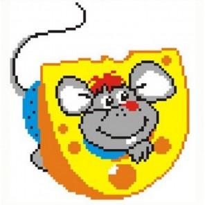Мышка в сыре Набор для вышивания Овен