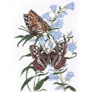 Бабочка на колокольчике Набор для вышивания Овен