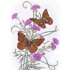 Бабочка на репейнике Набор для вышивания Овен