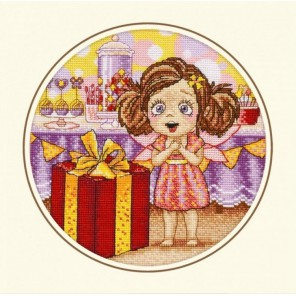 Пример оформления в рамке День рождения Алисы Набор для вышивания Овен 874