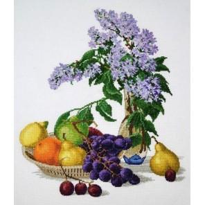 Сирень и фрукты Набор для вышивания Овен