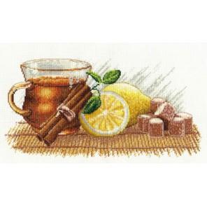 Пример оформления в рамке Зимний чай Набор для вышивания Овен 900