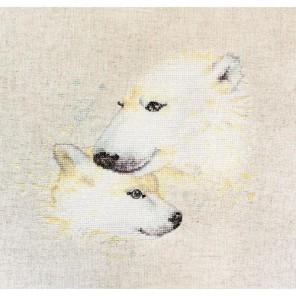 Белые медведи Набор для вышивания Luca-S