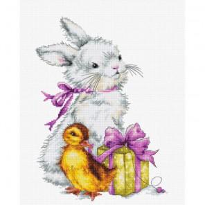 Пасхальная открытка Набор для вышивания Luca-S
