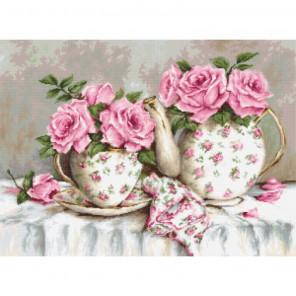Утренний чай и розы Набор для вышивания Luca-S