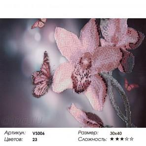 Нежная орхидея Набор для вышивания бисером на подрамнике VS006