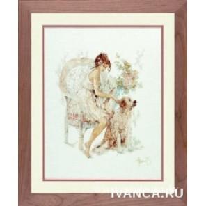 Girl In Chair With Dog Набор для вышивания Lanarte PN-0007951