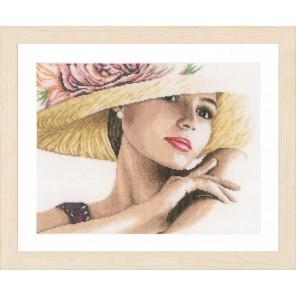 Lady with Hat Набор для вышивания Lanarte PN-0168602