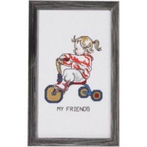 Девочка на трёхколесном велосипеде Набор для вышивания Permin 92-1184