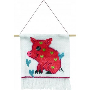 Свинка Набор для вышивания Permin 13-4342