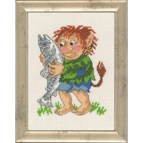 Мальчик тролль Набор для вышивания Permin 92-1587