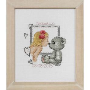 Изабелла и медвежонок Набор для вышивания Permin 92-5146