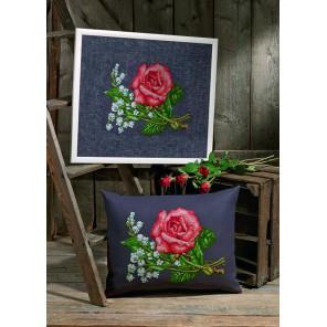 Розы и лилии Набор для вышивания Permin 70-6426