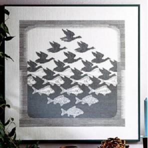 Птицы и рыбы Набор для вышивания Permin 70-3400