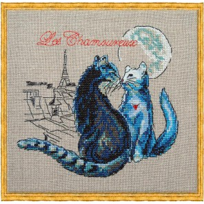 Les Chamoureux (Свидание под луной) Набор для вышивки крестом Nimue 114-P004K