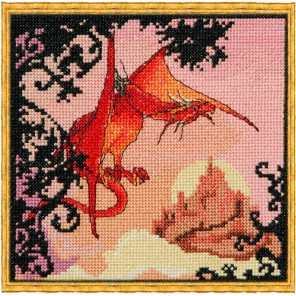 Dragon Rouge (Красный дракон) Набор для вышивки крестом Nimue 121-B002K
