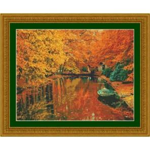 Осенняя прогулка на лодке Набор для вышивания Kustom Krafts 97347
