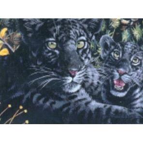Черная пантера с детенышами Набор для вышивания Kustom Krafts 99397