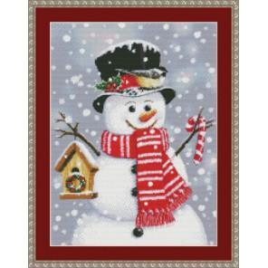 Снеговик со скворечником Набор для вышивания Kustom Krafts 97267