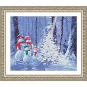 Семья снеговиков Набор для вышивания Kustom Krafts 97667