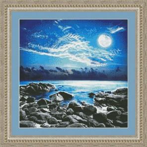 Залив в лунном свете Набор для вышивания Kustom Krafts 20417