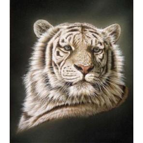 Портрет белого тигра Набор для вышивания Kustom Krafts 98717