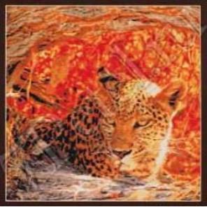 Затаившийся леопард Набор для вышивания Kustom Krafts 98437