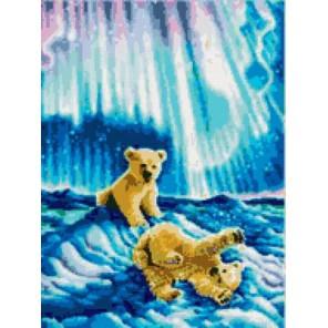 Медвежата в северном сиянии Набор для вышивания Kustom Krafts 98537