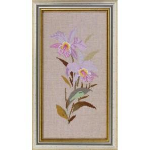 Лиловые орхидеи Набор для вышивания Eva Rosenstand 14-464