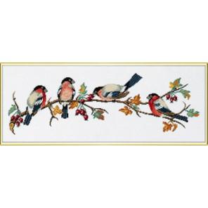 Снегири на ветке Набор для вышивания Eva Rosenstand 14-091